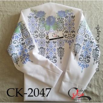 Сині троянди в орнаменті - заготовка жіночої блузки