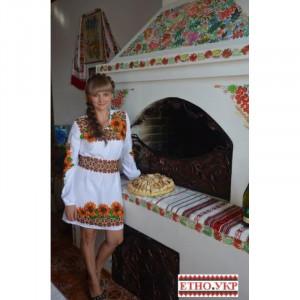 """""""Соняшники в орнаменті"""" заготовка плаття під вишивку"""
