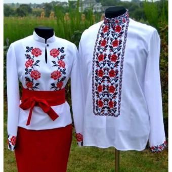 Поліські троянди - Сімейний комплект заготовок під вишивку нитками або бісером