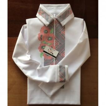 Розкішні маки - заготовка чоловічої сорочки під вишивку