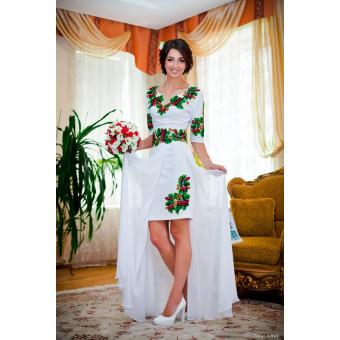 Жіноча заготовка сукні для вишивки нитками, бісером