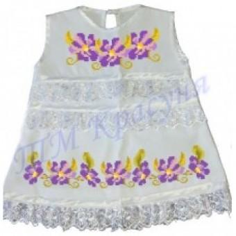 Фіолетові квіточки зшита заготовка дитячого плаття