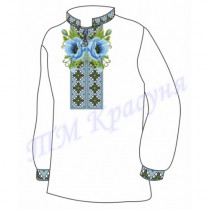 Орнамент з маками заготовка дитячої сорочки