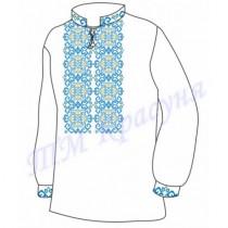 """Заготовка дитячої сорочки """"Магічні зірки"""" (блакитна)"""