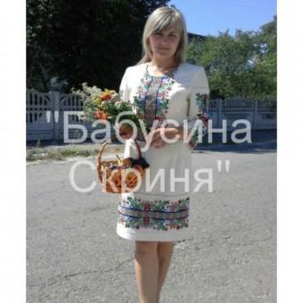 """Заготовка сукні  під вишивку """"Борщівська"""" купити львів"""