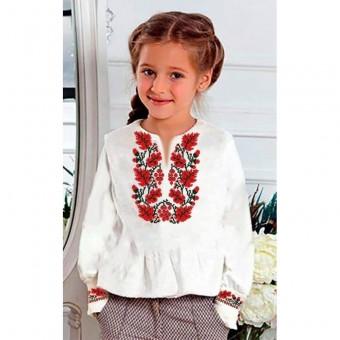 Заготовка дитячої сорочки на дівчинкупід вишивку бісером, або нитками.