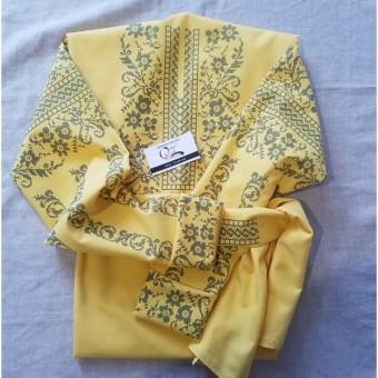 Сокальський мотив заготовка блузки під вишивку (жовта)