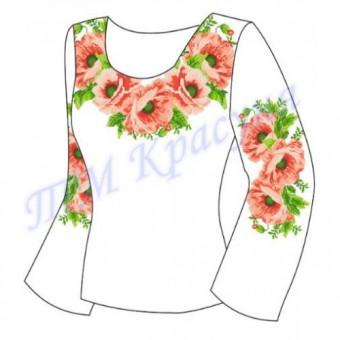 """""""Пишний цвіт маків""""Заготовка для жіночої блузки"""