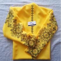 """Заготовка блузки під вишивку """"Мелодія"""" (жовта)"""