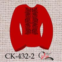 """Заготовка жіночої блузки під вишивку """"Чорне колосся"""" (червона)"""