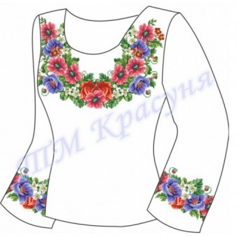 """Заготовка для жіночої блузки """"Квіткове плетіння"""""""