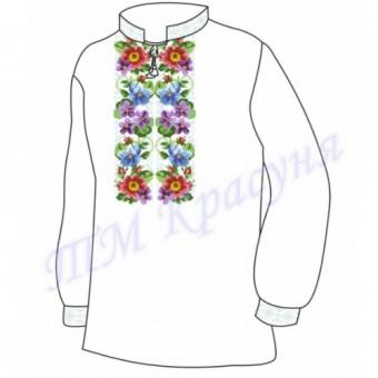 """Заготовка дитячої вишиванки """"Весняні квіти"""""""