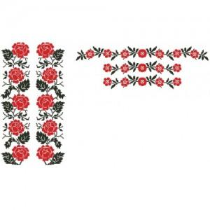 """Заготовка чоловічої сорочки під вишивку """"Поліські троянди"""""""